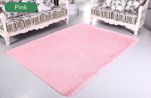 LELVA Ultra Soft 4.5 Cm Thick Indoor Morden Area Rugs Pads Fashion Color [Bedroom] [Livingroom] [Sitting-room] [Rugs] [Blanket] [Footcloth] for Home Decorate (Pink, 6.5ft X 10ft) by LELVA