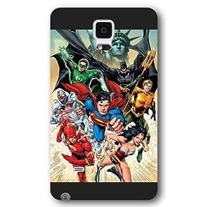 UniqueBox Justice League Custom Phone Case for Samsung Galaxy Note 4, DC comics Justice League Customized Samsung Galaxy Note 4 Case, Only Fit for Samsung Galaxy Note 4 (Black Frosted Shell)