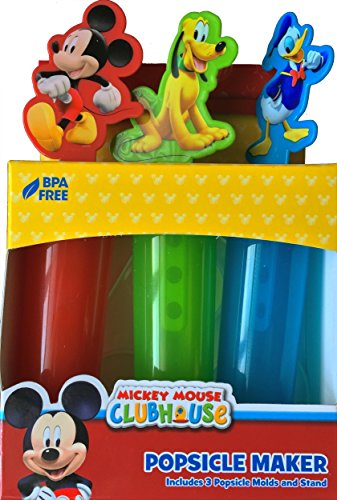 Disney Mickey Mouse, Donald Duck , and Pluto Popsicle Maker Inlcudes 3 Popsicle Molds and Stand Summer Fun Make Tasty Frozen Treats