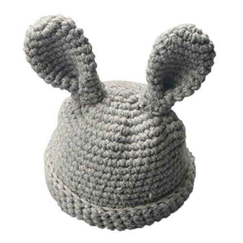 Kinder Wollmütze Häkeln Hirolan Niedlich Hase Ohren Kinder Wollmütze