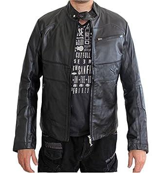 6762b89f0 PUMA Ducati chaqueta de cuero negro 551200-01 negro Talla medium   Amazon.es  Deportes y aire libre