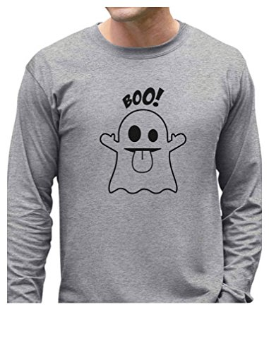 Boo Ghost Easy Halloween Costume Funny Long Sleeve