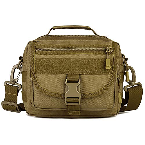 Huntvp Taktisch Schultertasche Militär Crossbody Bag Wasserdicht Umhängetasche Messengerbag Aktentasche Handtasche mit Abnehmbar Schultergurt für Alltag Outdoor