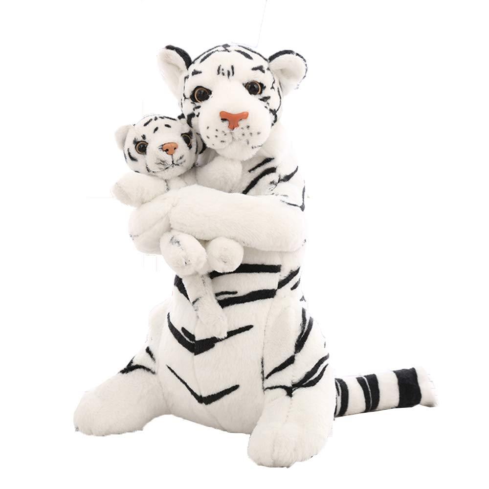 Plush TOY Nettes Mutter-Kind-Tigerplüschspielzeug, 48 cm PP-Baumwollplüschspielzeug, Jungen oder Mädchen oder Festivals