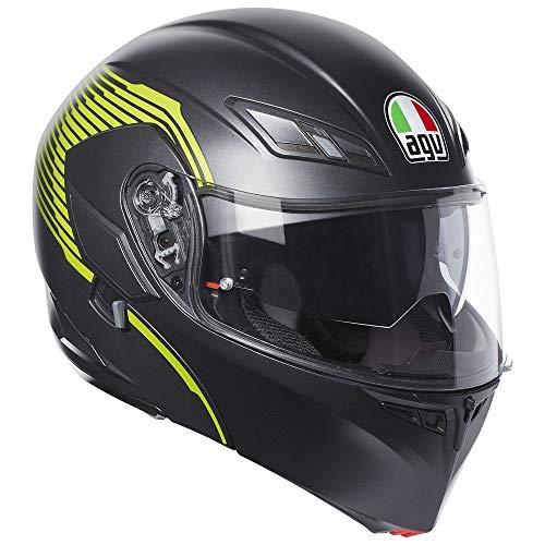 (AGV Numo EVO ST Helmet - Vermont (MEDIUM) (MATTE BLACK/YELLOW FLUO))