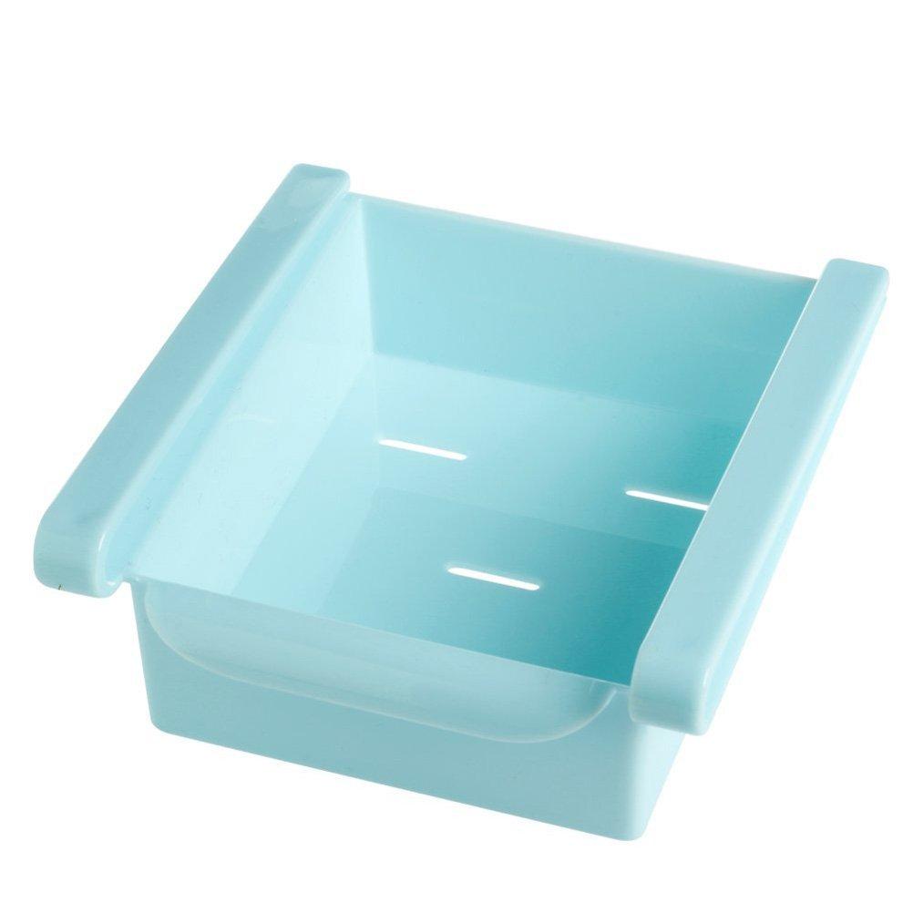 OUNONA Cuisine Ré frigé rateur Ré frigé rateur Stockage Rack Congé lateur Porte-é tagè re Kitchen Space Saver Organisation (Bleu)
