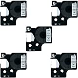 DYMO D1 40913 41913 Label Tape, LaBold 5 Pack Black on White Label Tape Cartridge Compatible for DYMO Standard D1 40913 41913 S0720680 Label Manager 3/8'' x 23' (9mm x 7m)