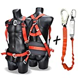 DCM Fall Arest Protection Universal Padded Safety Harness Kit with Shock Absorb Webbing Lanyard