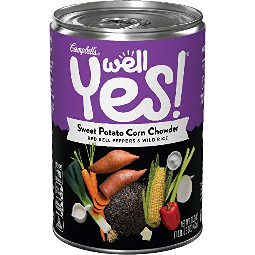 Campbell's Well Yes! Sweet Potato Corn Chowder, 16.3 oz. Can