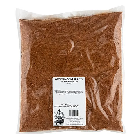 Simply Marvelous BBQ Spicy Apple BBQ Rub - 5lb - Rub Apple