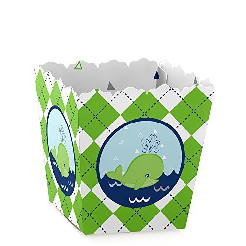 Tale of A Whale - Party Mini Favor Boxes - Baby Shower or Birthday Party Treat Candy Boxes - Set of 12 -
