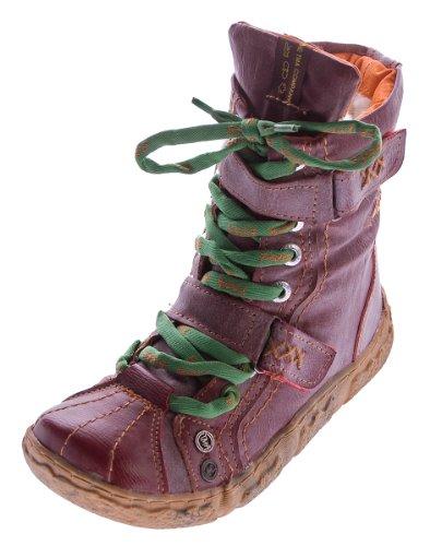 Leder Winter Stiefeletten Damen TMA Knöchel Schuhe gefüttert Rot Stiefel im used look Gr. 36