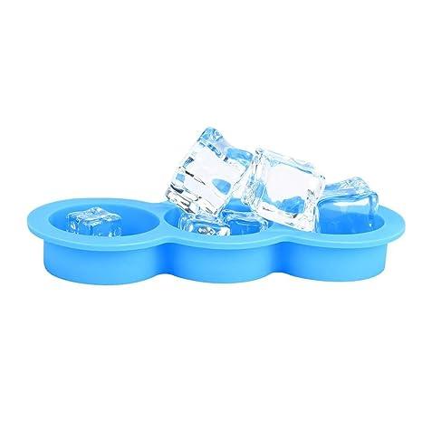 Moldes para cubitos de hielo, silicona Y56, 3 cubos de hielo con cara sonriente