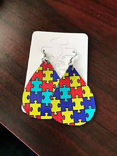 Autism Awareness Earrings/Paper Earrings/Lightweight -