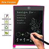 BONBON Kids Writing Pad LCD Writing Tablet Doodle Board Electronic Writing Board 8.5 inch Graphic Pad,Digital Drawing Board for Childrens Kids Gifts,Elder Message Board,Family Memo and Office-Pink