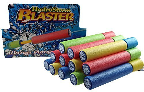 Set Of 12 Foam Water Pistol HYDRO STORM Blaster Shooter Pump
