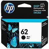 1 x Cartouche d'encre d'origine pour hP envy 5600 series hP 62 hP62 c2P04AE-noir-lot de 100 feuilles de papier photo ti-sa 10 x 15 cm-puissance: env. 200 pages à 5% de couverture
