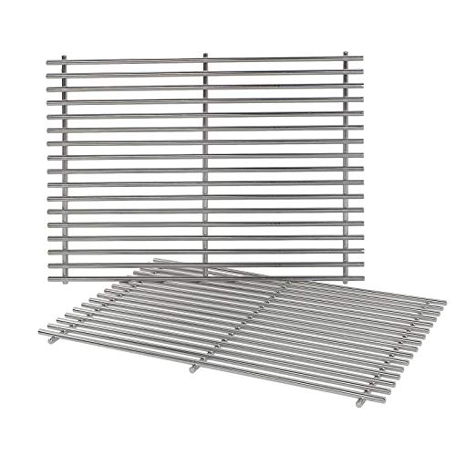 Genesis E310 Gas Grill - QuliMetal 7528, 304 Stainless Steel Cooking Grates (19.5 x 12.9 x 0.6) for Weber Genesis E and S Series 300 E310 E320 S310 S320 Gas Grills
