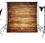 Duluda Wooden theme 5X5FT Indoor Studio Photography Background Computer-printed Poly Fabric Seamless Backdrop GMMK589
