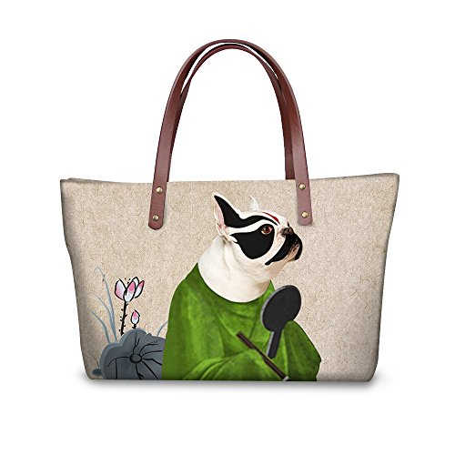 Satchel Women Tote Bages Handle Top Handbags FancyPrint Vintage W8ccc1738al YqwCv