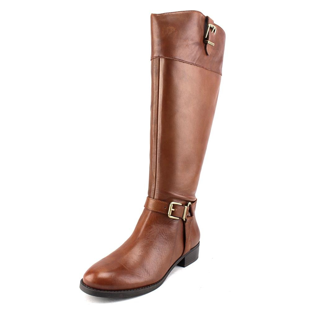 INC International Concepts Womens Fedee Leather Closed Toe, Cognac, Size 7.0