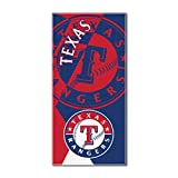 "MLB Texas Rangers ""Puzzle"" Beach Towel, 34""x72"", Red"