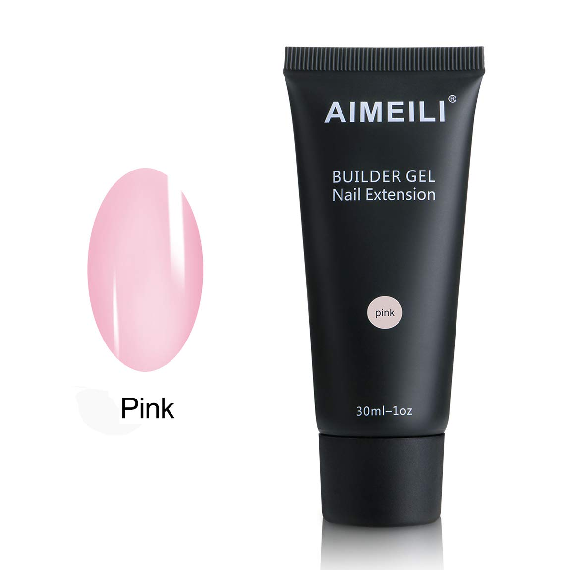 AIMEILI Clear Nail Extension Builder Gel 30ml Soak Off UV LED Nail Enhancement Tool