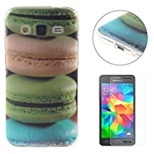 CasesHome Premium TPU Silicone Gel Protective Case Shockproof Soft Rubber Shell Cover for Samsung Galaxy Grand Prime SM-G530 With Unique Patterned Design-Macaron