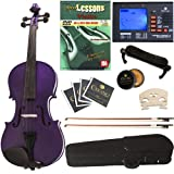 Cecilio CVN-Purple Ebony Fitted Solid Wood Violin - Best Reviews Guide