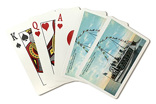 Santa Catalina Island, California - Glass Bottom Boat Empress View (Playing Card Deck - 52 Card Poker Size with Jokers)