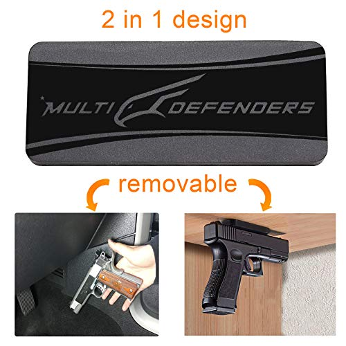 Lightweight Neodymium Magnet (OffiCreative Gun Magnet Mount | Removable 2 in1 Neodymium Magnet Gun Holster with 2 Iron Plates, 2 Double-Sided Tapes & a Set of Screws as Free Bundle, Magnet for Gun at Vehicle, Home & Office)