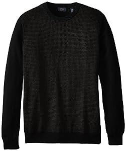 Arrow Men's Big-Tall Long Sleeve Dot Crew Sweater, Black, XXX-Large Tall