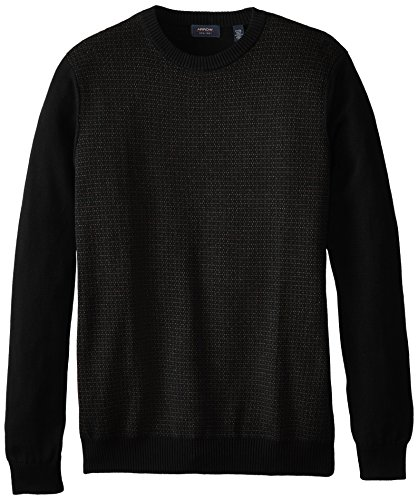 Arrow Men's Big-Tall Long Sleeve Dot Crew Sweater, Black, Large (Dot Crew Sweatshirt)