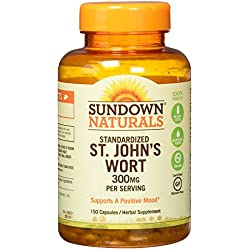 Sundown Naturals Standardized St. John's Wort Capsules 150 ea