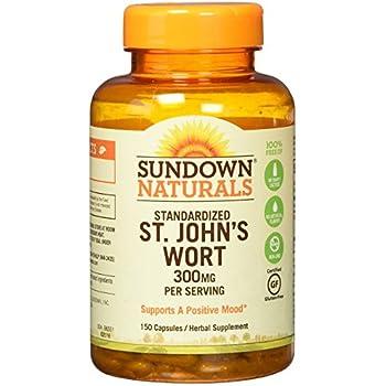 Sundown Naturals Standardized St. Johns Wort Capsules 150 ea