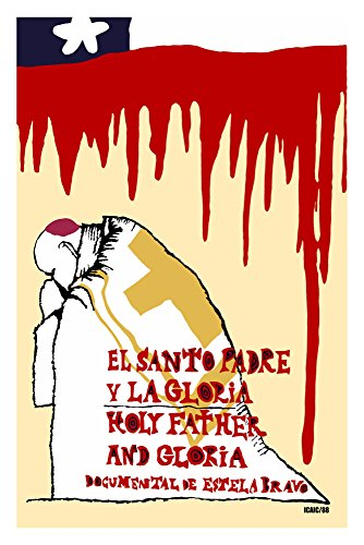 Movie Poster.Cuban film by Estela Bravo.El santo padre y la Gloria.Holy Father and Gloria.Pope.Chile