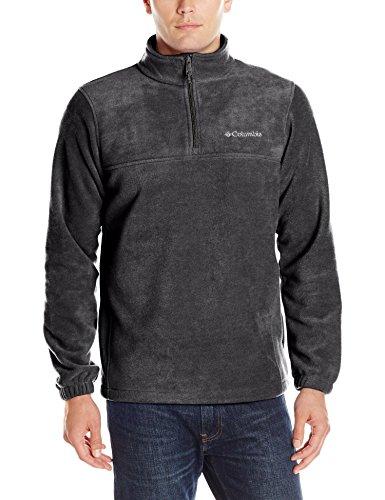 Columbia Men's Steens Mountain Half Zip Pullover Fleece, Charcoal Heather, (Fleece Pullover Charcoal)