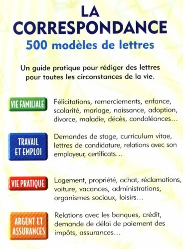 Guide De Correspondance 500 Modeles De Lettres Amazon In