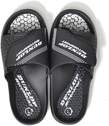 メンズ スポーツサンダル スライド シャワーサンダル sw321-L-BLACK-WHITE