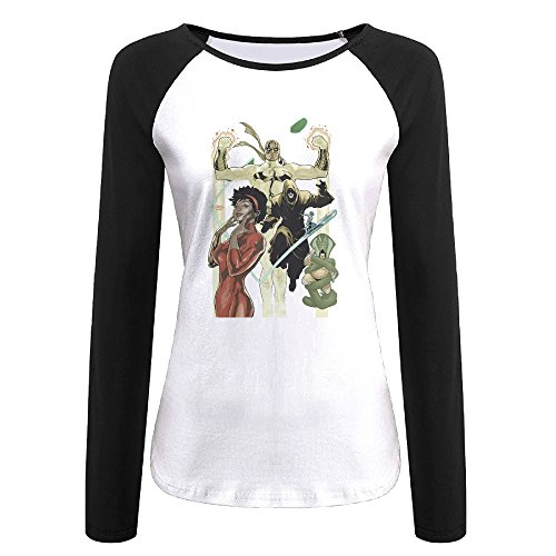 Creamfly Womens Iron Fist Misty Knight Poster Long Sleeve Raglan Baseball Tshirt -