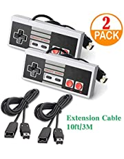 Genleas 2 Pack Game Pad Controller Retro Game Joystick with 2 Pack 3 Meter Extension Cable Replace for Nintendo Mini NES Classic Edition