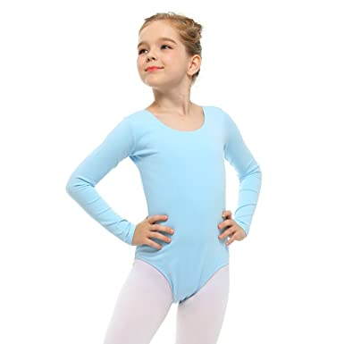 74ef379a8 Amazon.com  Stelle Girls  Long Sleeve Cotton Leotard for Dance ...