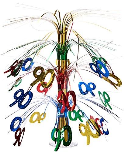 90 Cascade Centerpiece (multi-color) Party Accessory  (1 count) (1/Pkg) (Birthday Cascade)