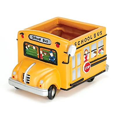 Adorable School Bus Planter Great Gift For Teachers, School Bus Drivers