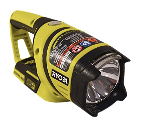 Ryobi One+ P704 18V Lithium Ion Cordless Flashlight w/ Rotating Head (Batteries Not Included, Power Tool Only) (Ryobi 18 Volt Flashlight Bulb)