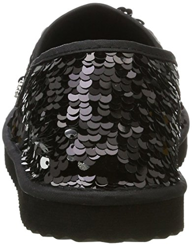 0110 Noir Argent Flip Flippadrillasequins noir Espadrilles Femmes Des Les Flop nHqBwzqS