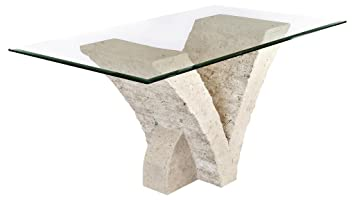 Stone Base Coffee Table.Seagull Dining Table With Fine Mactan Stone Base And Tempered Glass