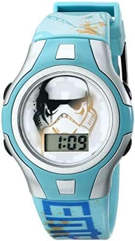Star Wars Kids' SWRKD002 Star Wars Digital Watch With Blue Plastic Band
