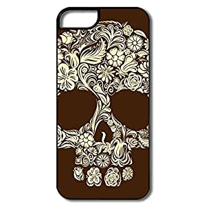 Funny Floral Skull Art IPhone 5/5s Case For Team