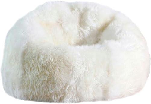 AUSKIN Large Sheepskin Bean Bag Chair Filled Ivory